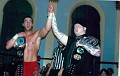 PWF Champ Evan Siks with NECW Champ John Walters
