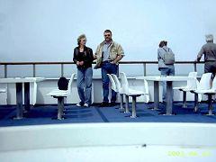 Erika & Manfred auf der Fähre nach Dänemark