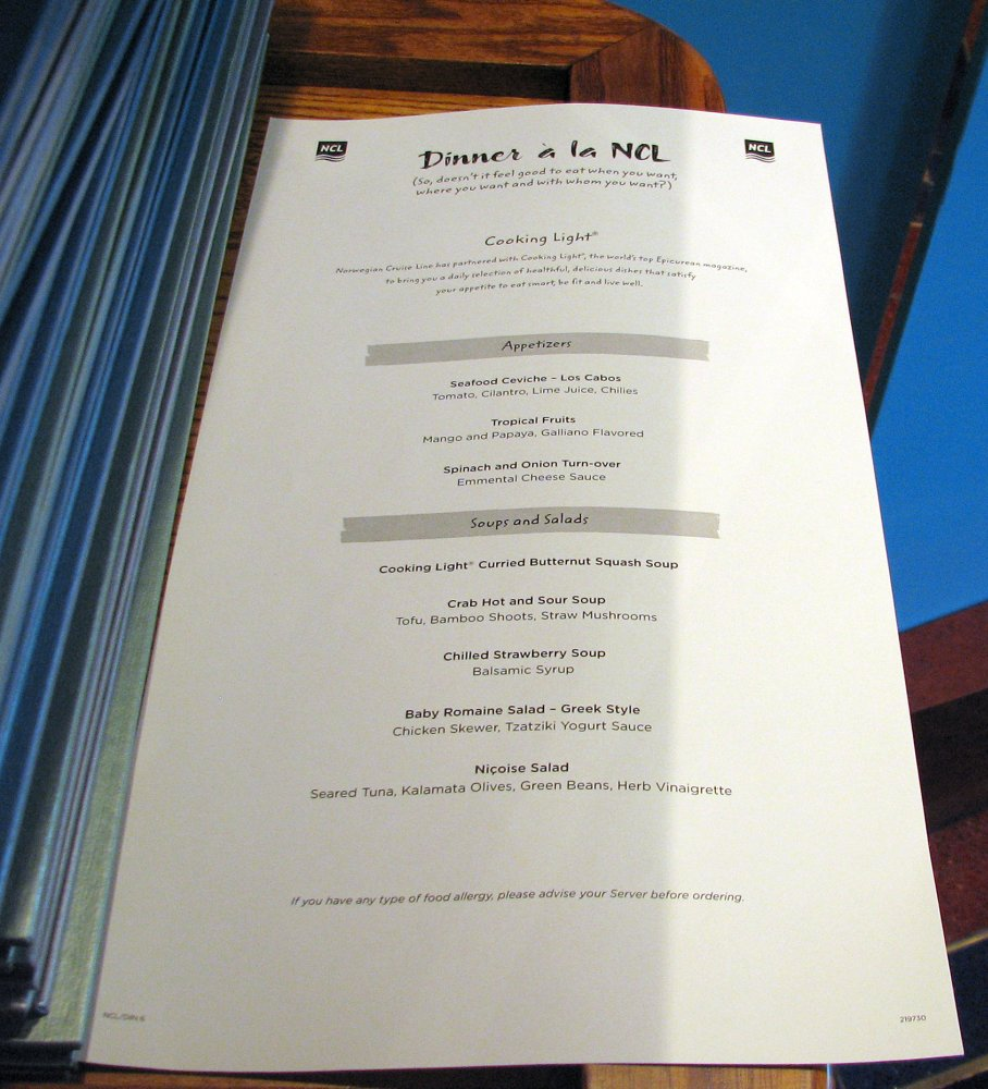 Menu - Magenta Main Dining Room