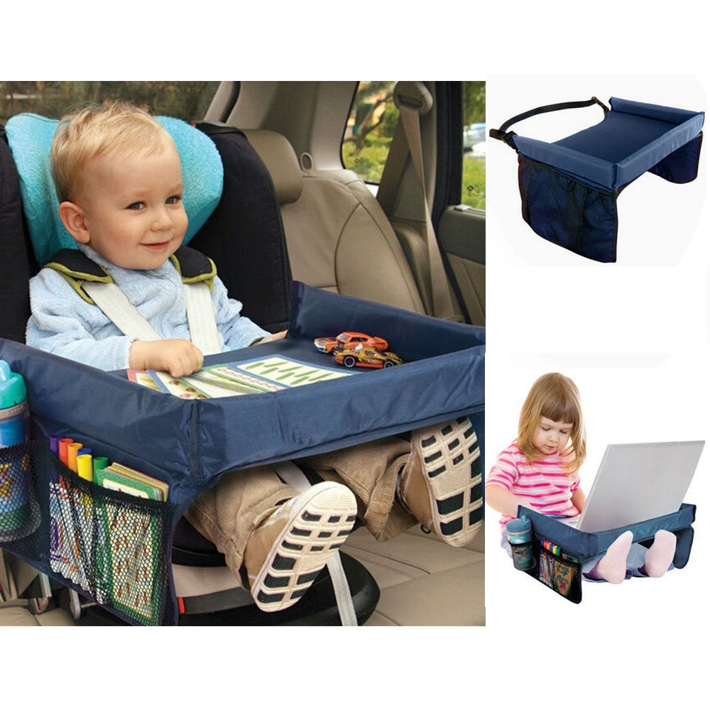 Kids Baby Safety Waterproof Snack Car Seat Table Play Travel Tray Drawing Board Ebay