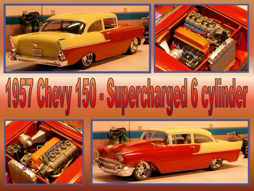 57 Chev 150 collage