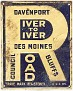 River to River Road Sign Iowa 1912