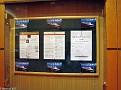 Info Board with Daily Programme & Weather Forecast - Deck 2