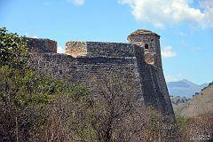 Fort Alego Paszy z Tepeleny na zatoką Porto Palermo