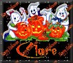 3 Ghosts & pumpkinClare