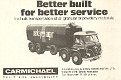 Carmichael Bulker ad,  Nov 1969