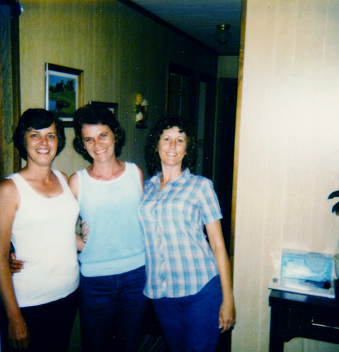 Joyce Washam Lloyd, Wanda Sue Moffett, and Linda Gail Lay, about 1985.