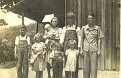 Pearl, Thomas, Anna, Clarence, Mildred, Bessie, Florence, Delus, Artemus Lawson - about 1942