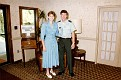 Unknown, and 1LT. Steve Dunn, Fort Monroe Officers Club, between 1985-1987.