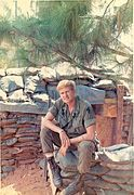 E. Ray at TAN CAHN, Vietnam, 1969, outside of Bunker