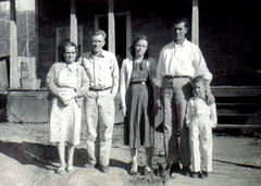 Hazel (REED) Goad, Marion Goad, Geniva Goad, Carl Goad and Ray Goad