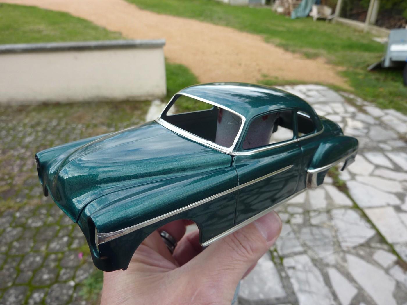 Projet Oldsmobile 50 avec remorque assortie terminé Photo-vi