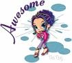 Awesome-GlamourGirl-TisTag