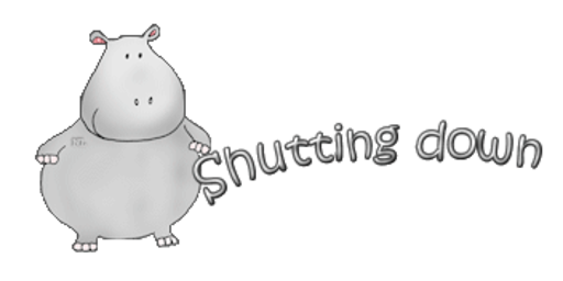 Shutting down - CuteHippo2018