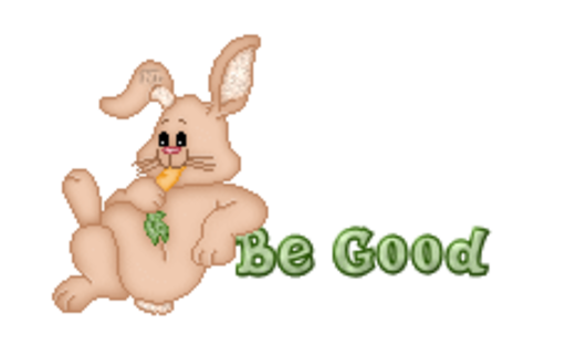 Be Good - BunnyWithCarrot