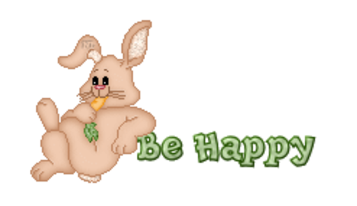 Be Happy - BunnyWithCarrot