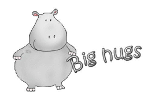 Big hugs - CuteHippo2018