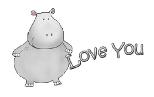 Love You - CuteHippo2018