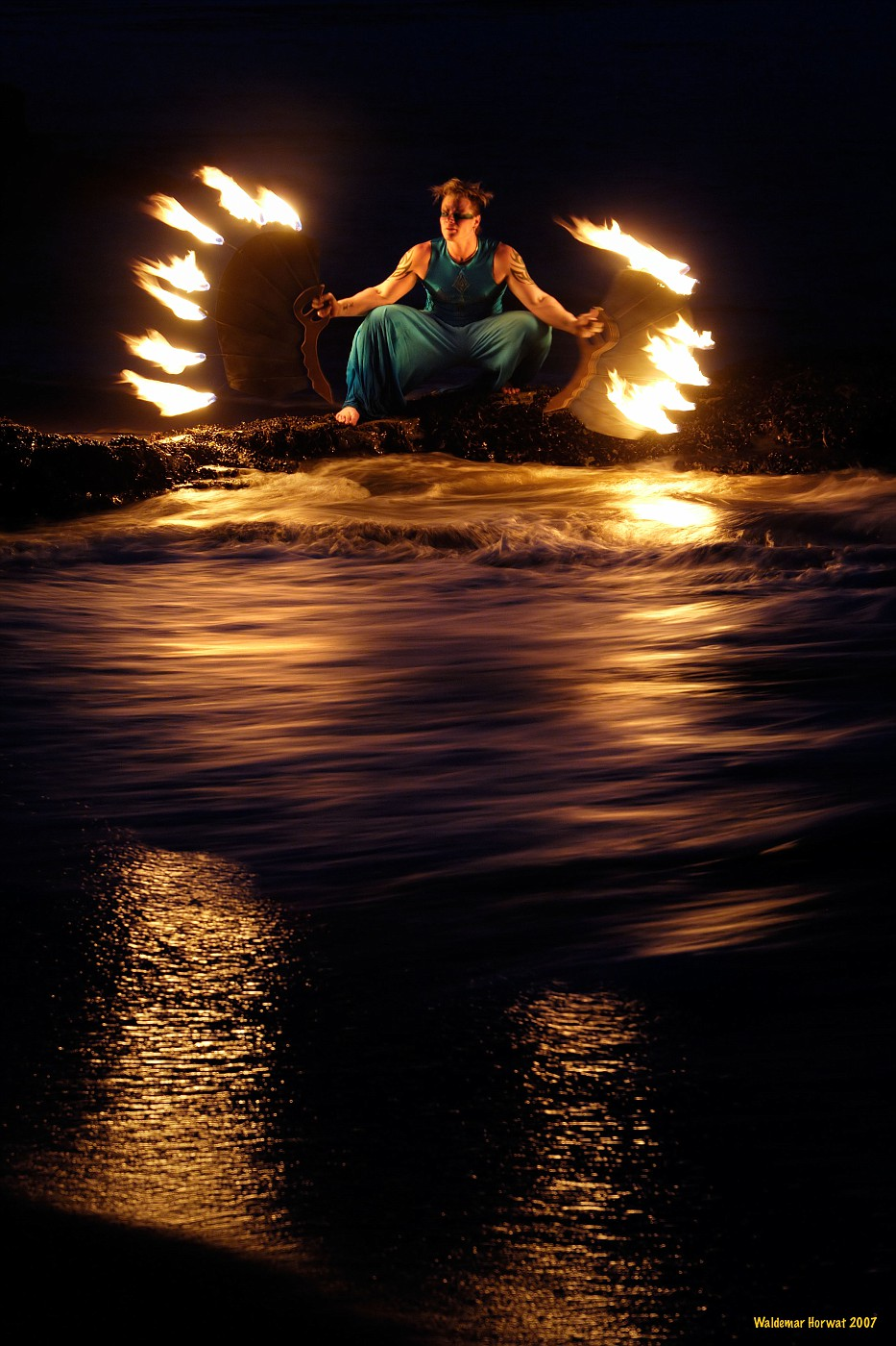 Fire in the Waves