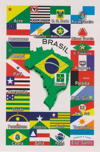 BRAZIL 02 STATES FLAGS