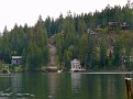 Now we are at Deep Cove.  Olli takes an interest in the cottages and homes across the water.  ssP1170039e