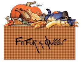 Fit for a Queen-gailz1109-ThanksgivingCat GobbleGobble KAT-MC