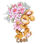 Cool - BunnyWithFlowers