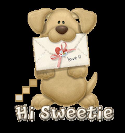 Hi Sweetie - PuppyLoveULetter