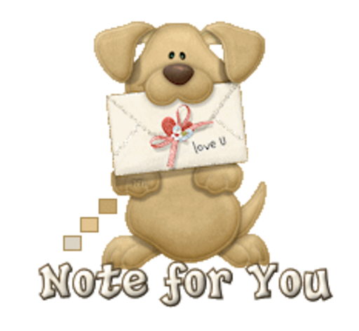 Note for You - PuppyLoveULetter