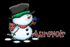 Aurevoir - Snowman&Bird