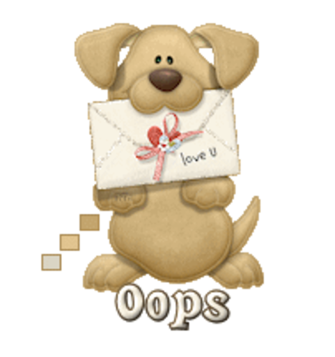 Oops - PuppyLoveULetter