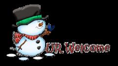 UR Welcome - Snowman&Bird