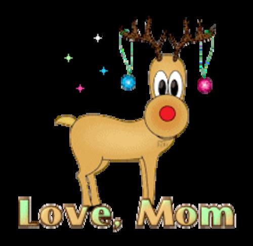 Love, Mom - ChristmasReindeer
