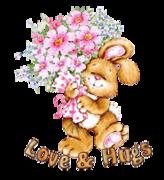 Love & Hugs - BunnyWithFlowers