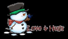 Love & Hugs - Snowman&Bird