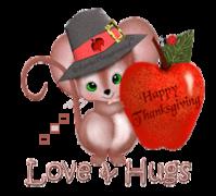 Love & Hugs - ThanksgivingMouse