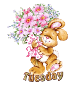 DOTW Tuesday - BunnyWithFlowers