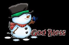 God Bless - Snowman&Bird