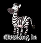 Checking In - DancingZebra