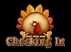 Checking In - ThanksgivingCuteTurkey
