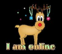 I am online - ChristmasReindeer