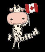 I Voted - CanadaDayCow