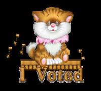 I Voted - CuteKittenSitting