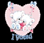 I Voted - ValentineBearsCouple2016