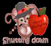 Shutting down - ThanksgivingMouse