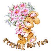 Praying for You - BunnyWithFlowers