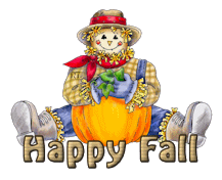 Happy Fall - AutumnScarecrowSitting