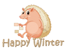 Happy Winter - CutePorcupine