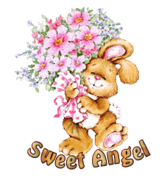 Sweet Angel - BunnyWithFlowers