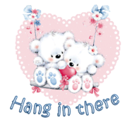 Hang in there - ValentineBearsCouple2016
